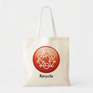 återvinna-rött tygkasse