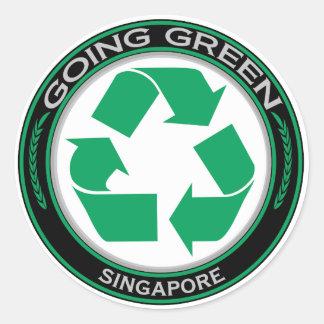 Återvinna Singapore Runt Klistermärke