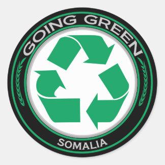 Återvinna Somalia Runt Klistermärke