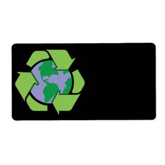 Återvinnajordetikett Fraktsedel