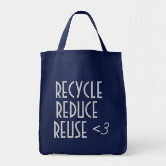 Återvinnan förminskar återanvänder hänger lös tygkasse