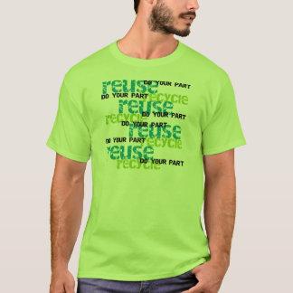 Återvinnan gör din del t shirt