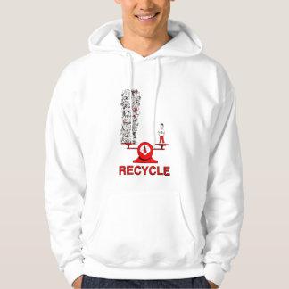 Återvinnasoporskjorta Tröja Med Luva