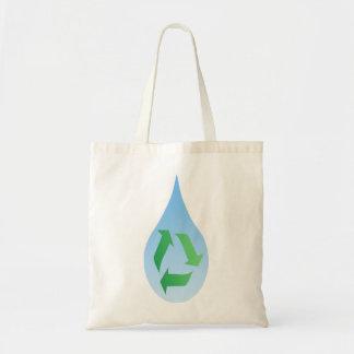 Återvinnavatten hänger lös tygkasse