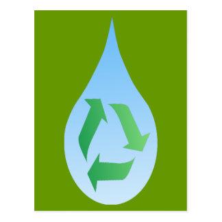 Återvinnavattenvykort Vykort