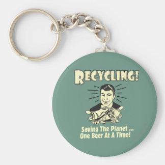 Återvinning: Besparing planet Rund Nyckelring