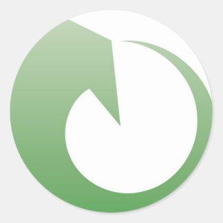 Återvinning undertecknar runt klistermärke
