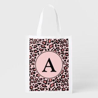 Återvinningsbar matkasse för rosa LeopardMonogram