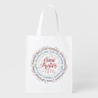 Återvinningsbar matkasse - Jane Austen Återanvändbar Påse