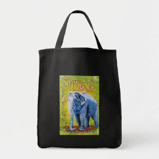 Återvinningsbar shopping bag för elefanttema tygkasse