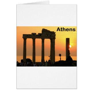 Athens Grekland (Sounion) tempel av Apollo (St.K) Hälsningskort