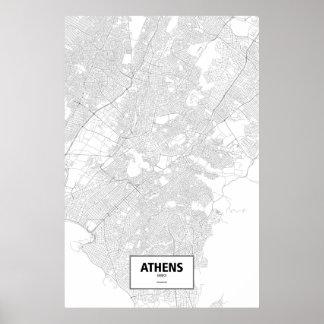 Athens Grekland (svarten på vit) Poster