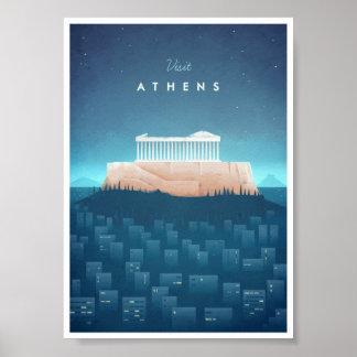 Athens vintage resoraffisch poster