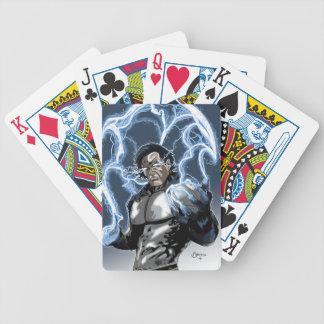 Athos cykel som leker kort spelkort