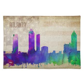 Atlanta för vattenfärgstad för GA | horisont Bordstablett