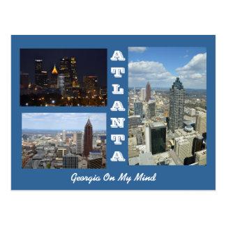 Atlanta Georgia Cityscapevykort Vykort