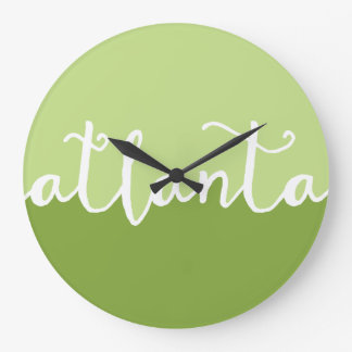 Atlanta Georgia | gröna Ombre cirklar Stor Klocka