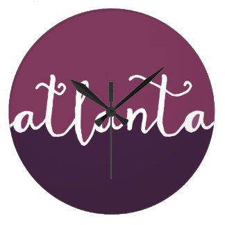 Atlanta Georgia | purpurfärgade Ombre cirklar Stor Klocka