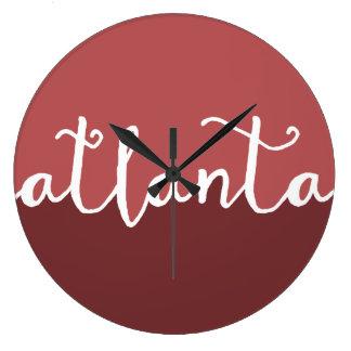 Atlanta Georgia | rostar Ombre cirklar Stor Klocka