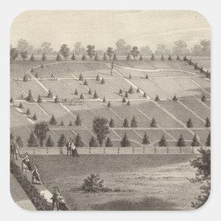 Atlanten beskådar kyrkogården, den Squan byn, NJ Fyrkantigt Klistermärke