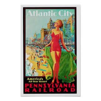 Atlantic City ~-Amerika all lekplats för år Poster