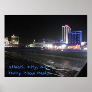 Atlantic City kasino för Plaza för NJ-~-trumf Poster