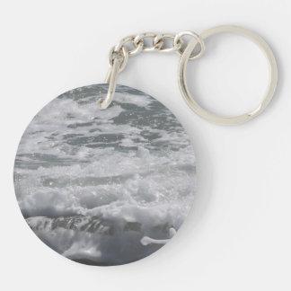 Atlantic Ocean dubbla sid nyckelringen