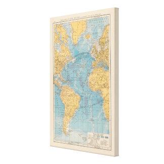 Atlantic Ocean karta Canvastryck