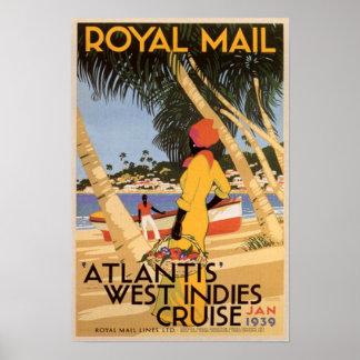 Atlantis västra Indies kryssning Poster