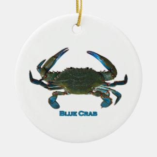 Atlantisk blåttkrabbalogotyp julgransprydnad keramik