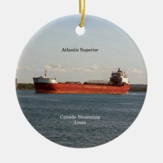 Atlantisk överlägsen prydnad julgransprydnad keramik