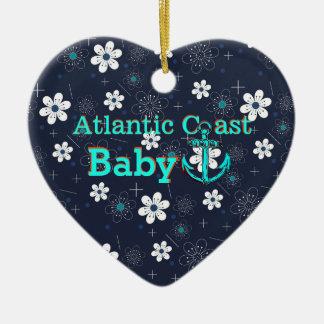 """Atlantisk prydnad för fyr för kustenbebis"""""""" """", julgransprydnad keramik"""