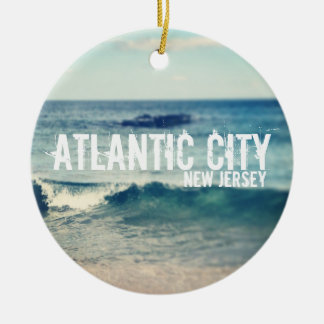 Atlantisk stad 2013 - återställning på den Jersey Julgransprydnad Keramik