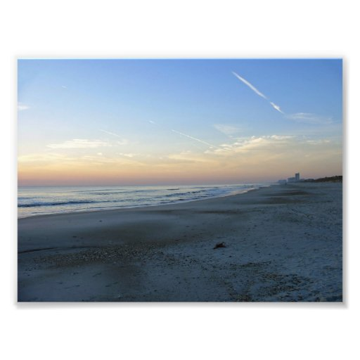 Atlantiskt tryck Jacksonville FL för strandsoluppg Fotontryck