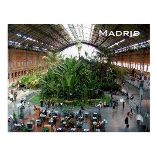 Atocha järnvägstation vykort