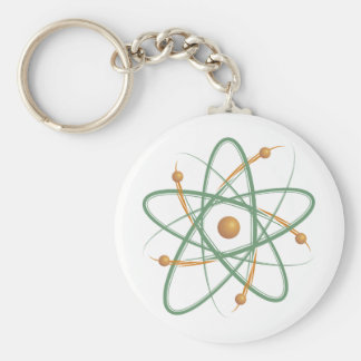 Atom (004b) rund nyckelring
