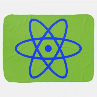 atom- bebisfilt - blått & grönt