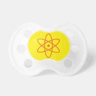 atom- binky - orange & gult napp