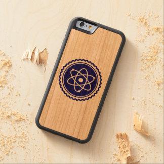 Atom- emblem för nödvändiga vetenskapsblått carved körsbär iPhone 6 bumper skal