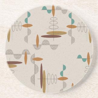 Atom- EraMitt--Århundrade modern abstrakt Underlägg Sandsten