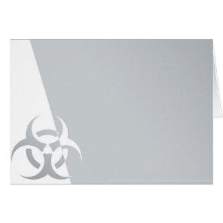 atom- kärn- grafiskt för Bio-fara biohazard Hälsningskort