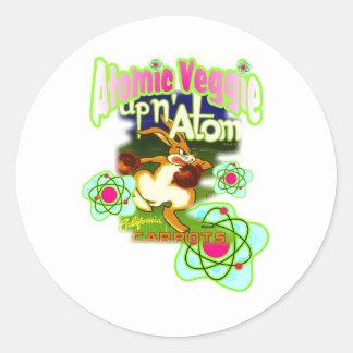atom- veggie runt klistermärke