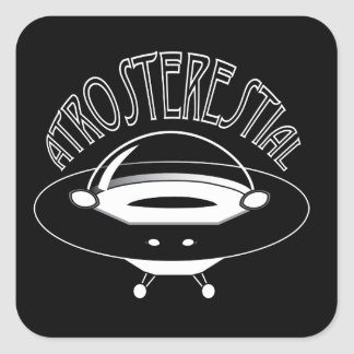 Atrosterestial Spaceship Fyrkantigt Klistermärke