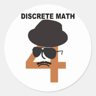 Åtskild Math Runt Klistermärke