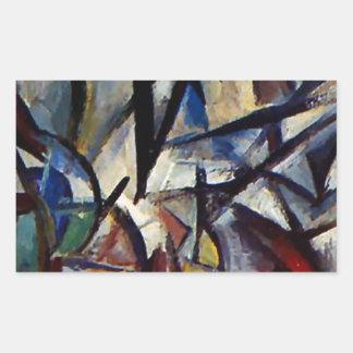 Åtskiljande av bildar vid Olga Rozanova Rektangulärt Klistermärke