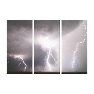 Åtskillig blixtstrejka canvastryck