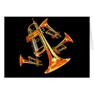 Åtskilliga trumpeter hälsningskort