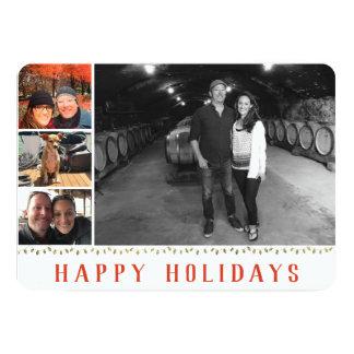 Åtskilligt foto | 4 avbildar | glad helgCollage 12,7 X 17,8 Cm Inbjudningskort