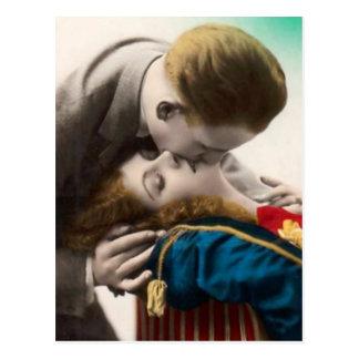 Att älska kopplar ihop vintagevykortet vykort
