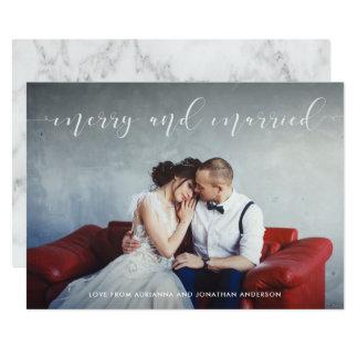 Att älska skrivar | som är glad och som är gift 12,7 x 17,8 cm inbjudningskort